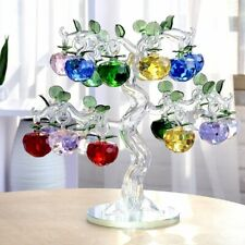 Crystal Apple Tree Feng Shui Crafts Home Decor Figurine Souvenirs Decor Ornament