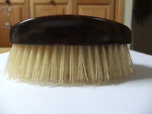 Vintage pure bristle hair brush, British Xylonite Co, tortoiseshell look handle