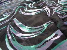 Italian Silk Devore 100%, 'Ancona', (per metre) dress fabric, scarves, tunic