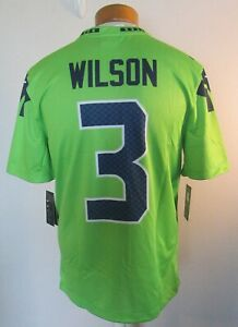 NWT Nike Russell Wilson Seattle Seahawks Mens Color Rush Jersey M Neon Green