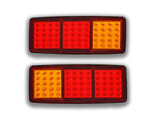 PAIR 12V 60 SMD LED REAR LIGHTS 3 FUNCTION TAIL LAMPS MINI TRAILER CAMPER TRUCK
