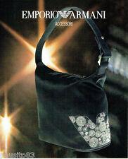 PUBLICITE ADVERTISING 056  2004   les accessoires sac Emporio Armani