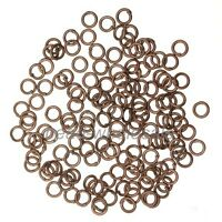 wholesale 300/2000pcs Silver/Golden Plated Open Metal Jump Rings 4-12mm
