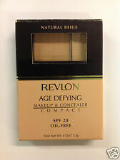 Revlon Age Defying Makeup & Concealer Compact NATURAL BEIGE NEW.