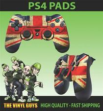 PS4 PLAYSTATION 4 CONTROLLER PAD STICKER UNION JACK FLAG GRUNGE STYLE SKINS X 2