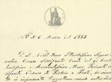 Pistoia 1883 Rimborso Spese per i Funerali del Vescovo