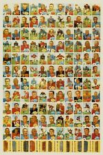 NFL Football POSTER Vintage 1960 Topps Trading Cards 49'ers Bears Eagles Colts
