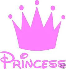 PRINCESS CROWN - STICKER pink girly baby