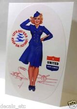 UNITED Airlines Vintage Style Travel Decal / Vinyl Sticker, Luggage Label