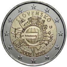 SLOVAQUIE 2 Euros Commémorative 10 ans de la Monnaie Euro 2012