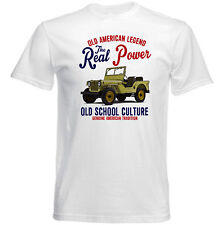 Vintage voiture américaine WILLYS CJ2A-NEW T-shirt en coton
