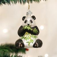 OLD WORLD CHRISTMAS PANDA ZOO ANIMAL GLASS CHRISTMAS ORNAMENT 12186