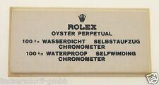 VINTAGE ROLEX OYSTER PERPETUAL - SIGN / SCHILD OFFICAL AGENT - ROHSEIDE - 1960er
