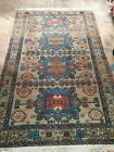 Hand knotted middle eastern Mid 20th Century Carpet geometrical rug