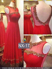 Designer Beautiful Red Color Net Fabric Party Wear Gown Dress