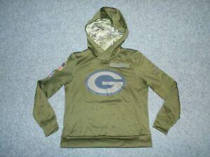 NIKE AA9937 NFL PACKERS SALUTE TO USA MILITARY WOMENS MEDIUM HOODIE           K5