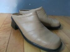 NAOT FOOTWEAR ladies 10M Shoes Sandals Mules Clogs Tan Leather Excellnt cond'n