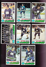1977 / 78 Topps HOCKEY Team SET Lot of 8 Vancouver CANUCKS NM+ MANIAGO SANDERSON