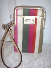 NWT Coach Legacy Stripe NS Universal Case Wristlet 62829 Multicolor