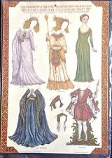 Shakespeare Character Costumes Paper Dolls, Old Fashioned Embossed, 1979 MIP