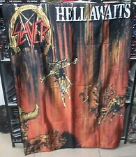 SLAYER Hell Awaits FLAG CLOTH POSTER WALL TAPESTRY BANNER CD Thrash Metal