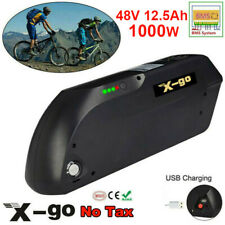 X-go 48v 12.5ah 1000w Tiger Shark Lithium Electric Bike Battery 30a BMS 2 Keys