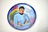 1983 USS Enterprise Star Trek Mr. Spock Science Officer Collector Plate W/COA