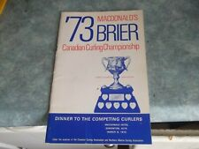MACDONALD'S BRIER '73 CANADIAN CURLING CHAMPIONS DINNER COMPETING CURLERS  BOOK
