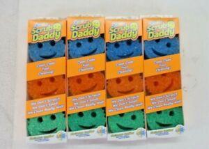 12 Ct Scrub Daddy Colors Flex Texture Sponge Odor Resistant Multi Color 4 Pack