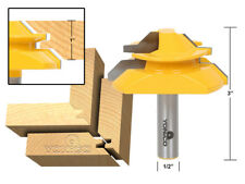 "45 Degree - Up to 1"" Stock Lock Miter Router Bit - 1/2"" Shank - Yonico 15122"