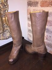 FRYE WOMENS SABRINA BOOTS FAWN LEATHER BROWN WOMENS 6.5 NEW WITHOUT BOX