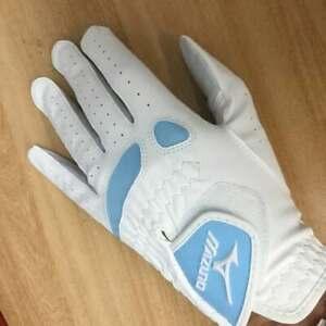 New Mizuno Ladies Left Handed Bio Flex Golf Glove in White/Pale Blue – Medium