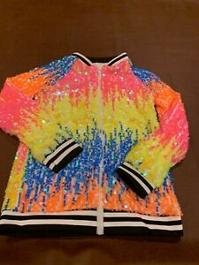 SPARKLE IN PINK GIRLS' SIZE 4XL (10/12) SEQUIN JACKET , NEW IN BAG