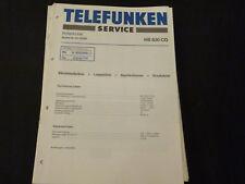 Original Service Manual Telefunken HS830 CD