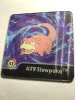 Slowpoke and Slowbro NM Artbox Pokemon Action Flipz Series One #33