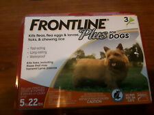 Frontline Plus 5 to 22 lb Flea & Tick Control SMALL DOGS, 3 Doses EPA APPROVED
