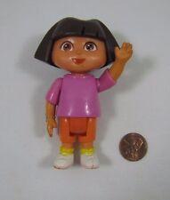 """DORA THE EXPLORER Dollhouse 3.5"""" GIRL DOLL Pink Shirt Orange Pants Cake Topper"""