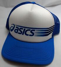 ASICS FOOTWEAR snapback VTG hat cap adjustable blue trucker mesh japan shoes c5fc6181da38