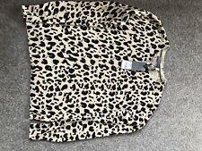 Oasis Plus Taille Vert Noir Animal Léopard Entonnoir Cou Tunique Pull XL 2XL 3XL