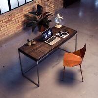 Industrial Desk in Reclaimed Boxcar Oak and Steel Box Frame