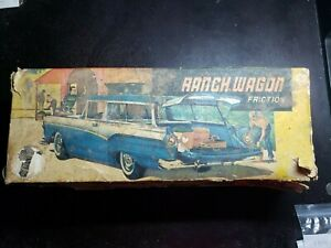 Vintage Ranch Wagon Friction Car  # 523 in Original Box