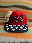 The Game Vintage Flag USA Ball Cap Patriotic Red White Blue All Over Hat