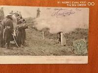 Rußland Japan Krieg, Russian soldiers executing a spy, gel. 1904, Agent Spion