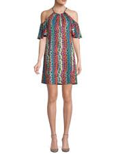 NWT- Trina Turk Viola Cold-Shoulder Floral Print Shift Dress, Multi -Size Medium