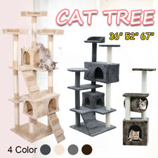 "36/52/67"" Cat Tree Scratching Activity Centre Climbing Toy House Scratcher Post"