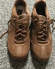 Sketchers Womens Relaxed Fit Brown Suede lace up 8.5 Shoes New No Box Never Worn