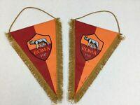 Italian Roma Banner Flags Set of 2 Italy Giemme Torino Red Orange Gold Football