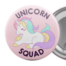 "Unicorn Squad Badge Button Pin 2.25"" cute kawaii"