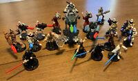 Star wars attacktix lot of 18 With AT-RT Obi-Wan Bodyguard Darth Sidious Vador !