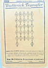 Butterick 16006 antique LETTER 'W' Iron-On Transfers Blue Ink 1/4' to 9'
